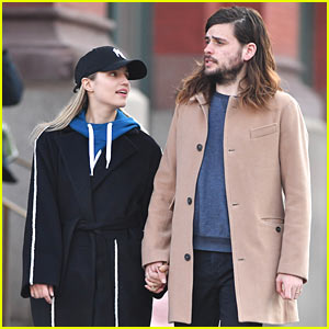 Dianna Agron & Husband Winston Marshall Hold Hands in NYC