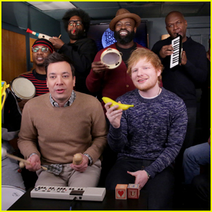 Ed Sheeran Performs 'Shape of You' Using Classroom Instruments on 'Fallon' - Watch Now!