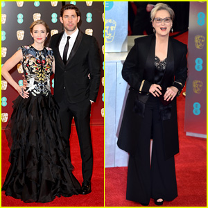 Emily Blunt & Meryl Streep Step Out at BAFTAs 2017 as Nominees!