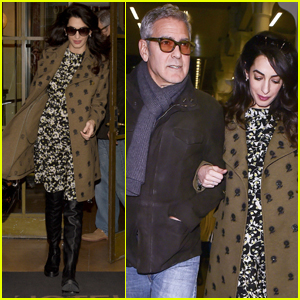 George Clooney & Pregnant Amal Head Back to London After Cesar Awards