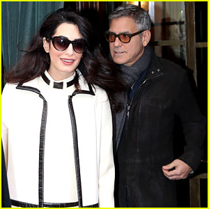 George Clooney & Pregnant Amal Spend a Casual Day in Paris