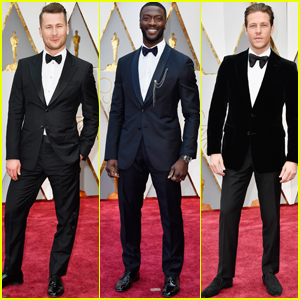 Glen Powell, Aldis Hodge & Luke Bracey Suit Up For Oscars 2017