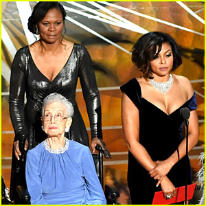 'Hidden Figures' Subject Katherine Johnson Welcomed to Oscars 2017 Stage by Taraji P. Henson!