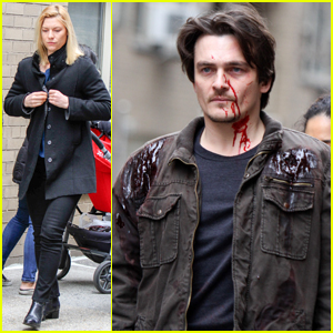 Rupert Friend is Bloody For 'Homeland' Car Crash Scene