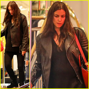 Irina Shayk Wears Form-Fitting Top While Shopping