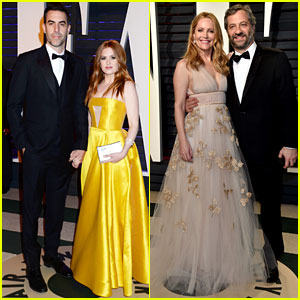 Isla Fisher & Leslie Mann Have Date Nights at Vanity Fair's Oscar Party!