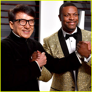 Rush Hour's Jackie Chan & Chris Tucker Reunite at Vanity Fair Oscars Party 2017!