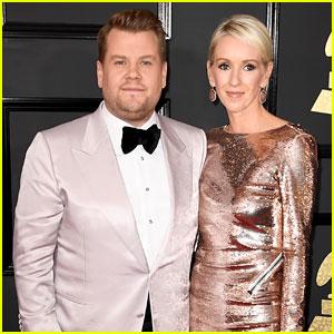 Host James Corden Brings Wife Julia Carey to Grammys 2017