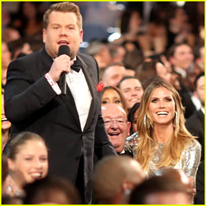 James Corden's Parents Take Advantage of Their 'Free Passes' at the Grammys While Getting Cozy with Heidi Klum & Nick Jonas!