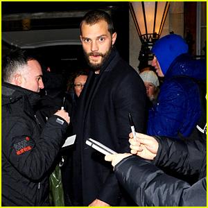 Jamie Dornan Causes a Fan Frenzy Outside His London Hotel