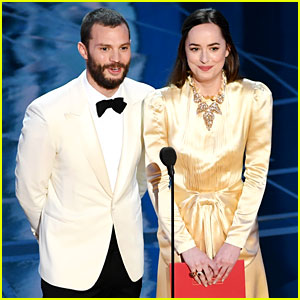 Fifty Shades' Jamie Dornan & Dakota Johnson Present Together at Oscars 2017!