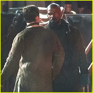Jamie Foxx Starts Filming 'Robin Hood: Origins' with Taron Egerton!