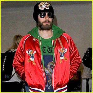 Jared Leto Rocks a $2000 Gucci Donald Duck Jacket
