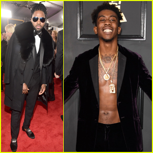Jason Derulo & Desiigner Get Fashionable at the Grammys 2017