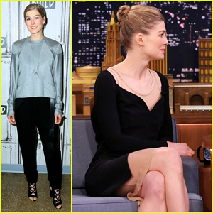 Jimmy Fallon Challenges Rosamund Pike To Say Anything On 'The Tonight Show' - Watch Here!