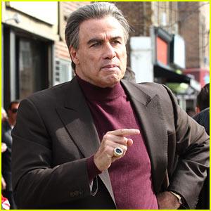 John Travolta Gets Into Character Filming 'The Life & Death of John Gotti'