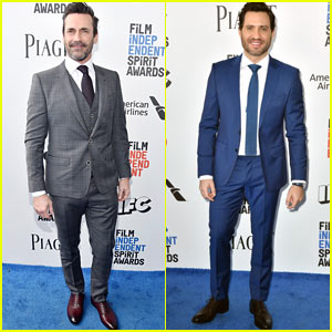 Jon Hamm & Edgar Ramirez Suit Up for the Spirit Awards 2017