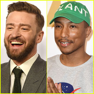 Justin Timberlake & Pharrell Williams Celebrate at Oscars Luncheon 2017!