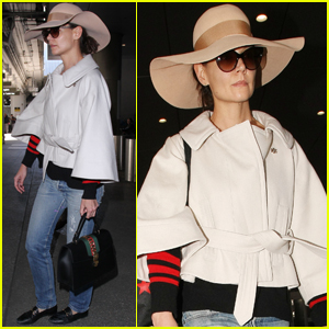 Katie Holmes Goes Incognito at the Airport