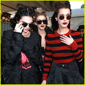 Kendall Jenner, Gigi, & Bella Hadid Have a Busy Day During NYFW!