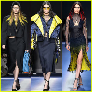 Kendall Jenner & the Hadid Sisters Go Punk for Versace Show