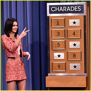 Kendall Jenner Plays Charades with Jimmy Fallon - Watch Now!