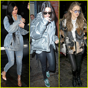 Kendall Jenner, Kylie Jenner & Gigi Hadid Have Day Off in New York City