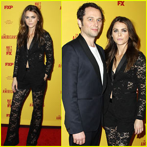 Keri Russell & Matthew Rhys Couple Up for the Season 5 Premiere of 'The Americans'