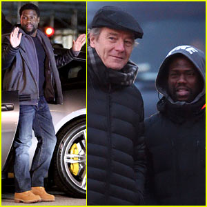 Kevin Hart Gets Arrested, Bryan Cranston Sports Fake Beard While Filming 'Untouchable'