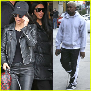 Kim Kardashian & Kanye West Enjoy Family Outing with Kourtney Kardashian!