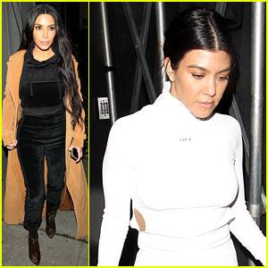 Kim & Kourtney Kardashian Grab Dinner at Craig's