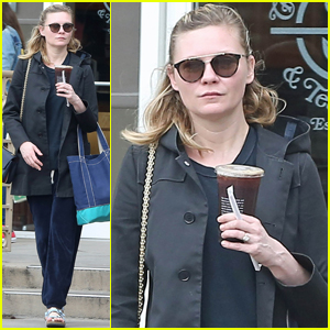 Kirsten Dunst Shows Off Engagement Ring During Coffee Run