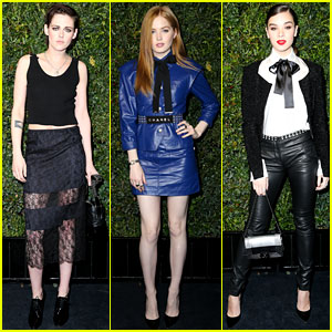Kristen Stewart, Ellie Bamber, & Hailee Steinfeld Step Out for Chanel's Pre-Oscar Dinner