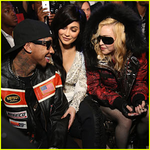 Kylie Jenner & Tyga Chat it Up With Madonna at Philipp Plein's Fashion Show