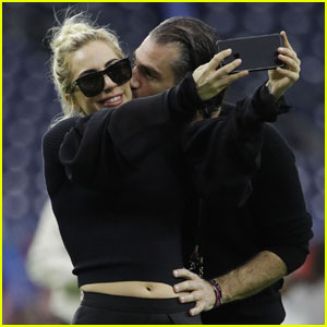 Lady Gaga & Christian Carino's PDA at the Super Bowl!