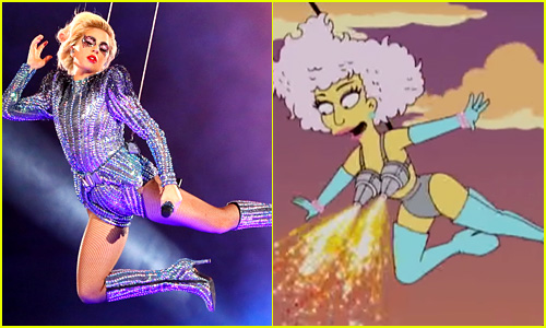 Lady Gaga's Super Bowl Flying Moment Was Predicted By 'The Simpsons' Five Years Ago!