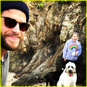 Liam Hemsworth Shares Cute Valentine's Day Picture with Miley Cyrus!