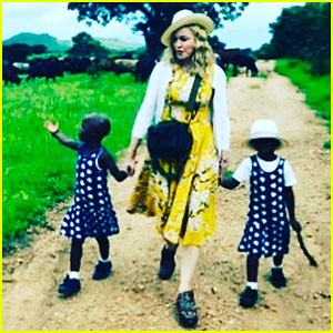 Madonna Confirms Adoption, Shares Photo of Twin Girls!