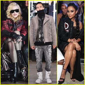Madonna & Shay Mitchell Watch Pete Wentz Hit The Runway At Philipp Plein's Fashion Show!