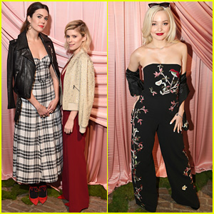 Kate Mara & Mandy Moore Meet Up at Alice & Olivia's NYFW Show with Dove Cameron!