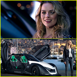 Margot Robbie Drives a Futuristic Car as Nissan's New Face