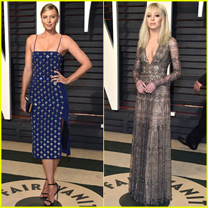 Maria Sharapova & Portia Doubleday Are Blonde Beauties at Vanity Fair Oscars Party 2017!