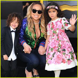 Mariah Carey Brings Twins Moroccan & Monroe to 'The Lego Batman Movie' Premiere