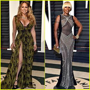 Mariah Carey & Mary J. Blige Step Out for Vanity Fair Oscars Party 2017!