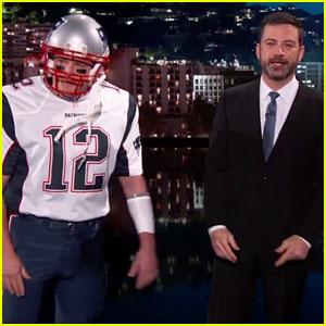 Matt Damon Crashes Jimmy Kimmel Dressed as Tom Brady - Watch Now