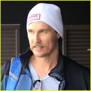 Matthew McConaughey Sports a Handlebar Mustache in Latest Sighting