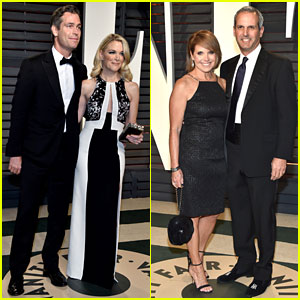 Megyn Kelly & Katie Couric Have Date Nights at Vanity Fair's Oscar Party