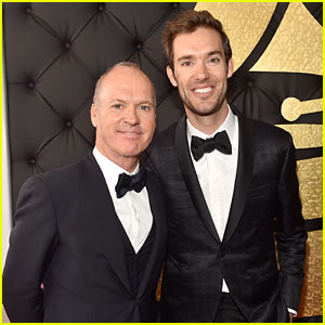 Michael Keaton Supports Son Sean Douglas at Grammys 2017