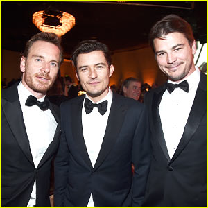 Michael Fassbender, Orlando Bloom, & Josh Hartnett Buddy Up at Directors Guild Awards