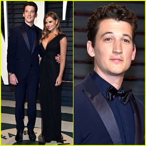 Miles Teller & Keleigh Sperry Look So Lovely at Vanity Fair's Oscars Party